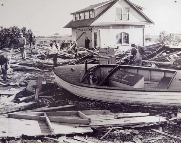 The aftermath from the Hurricane of 1938.