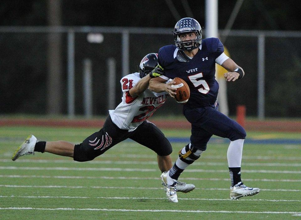 Smithtown West quarterback Matthew K. Heldberg Jr. is