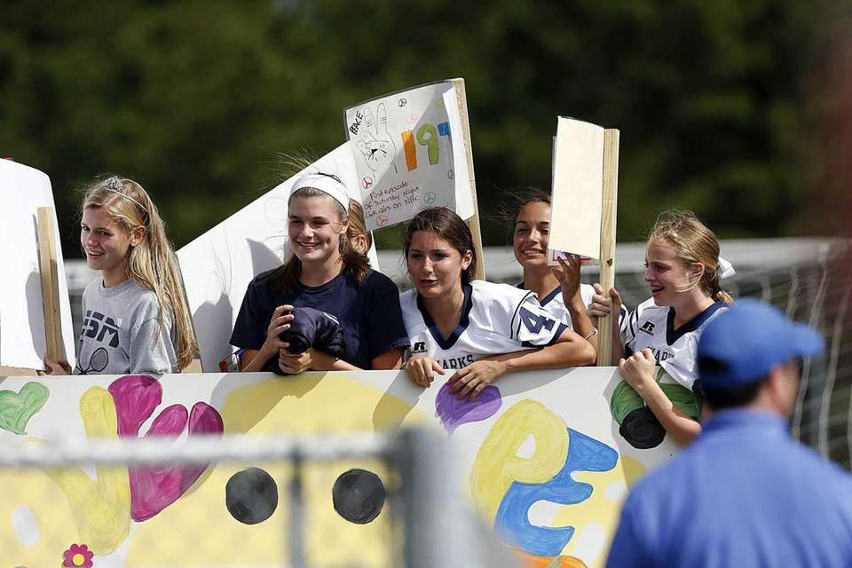 A homecoming float at Eastport South Manor High