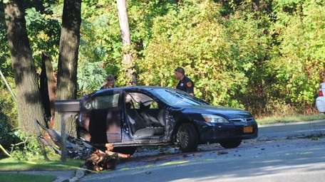 A woman driving alone was killed when her