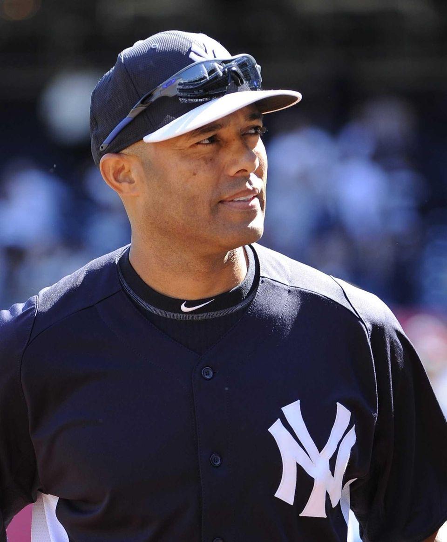 Yankees closer Mariano Rivera is seen walking off