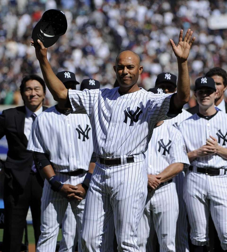 Yankees closer Mariano Rivera is honored in a