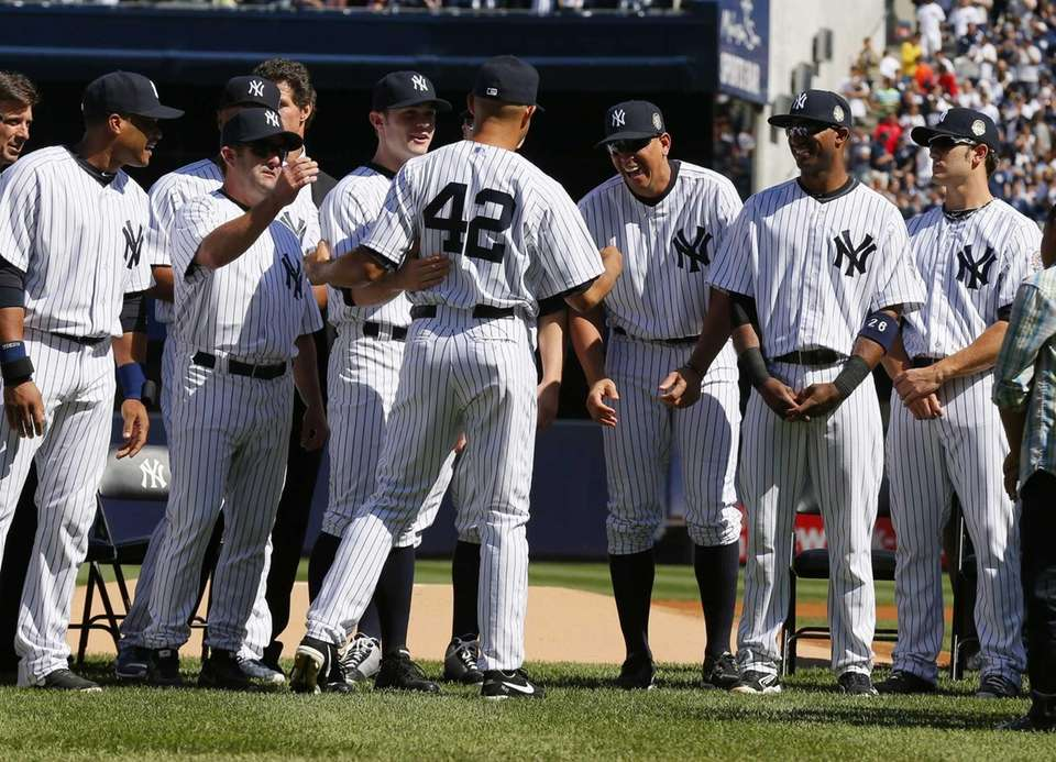 Mariano Rivera is honored during Mariano Rivera Day