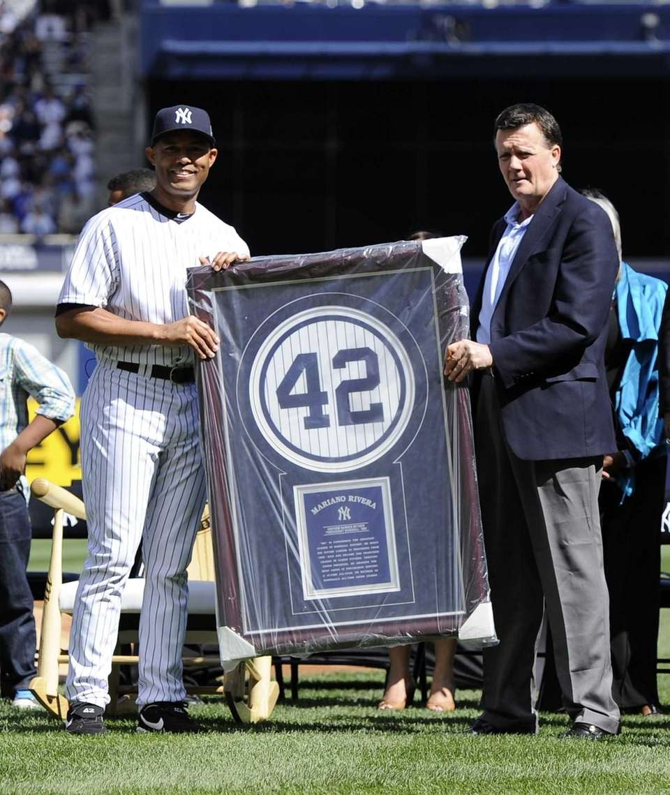 YANKEES After retiring his number 42 in Monument