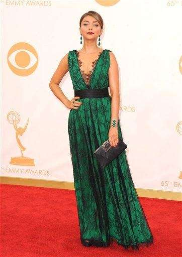Sarah Hyland arrives at the 65th Primetime Emmy