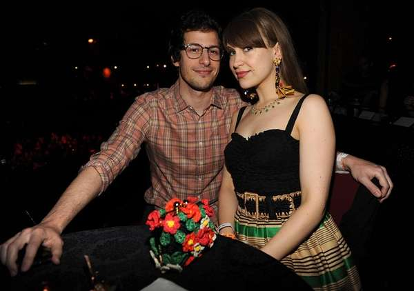 Comedian Andy Samberg and singer-songwriter Joanna Newsom at