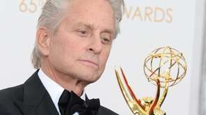 Actor Michael Douglas, winner of outstanding lead actor