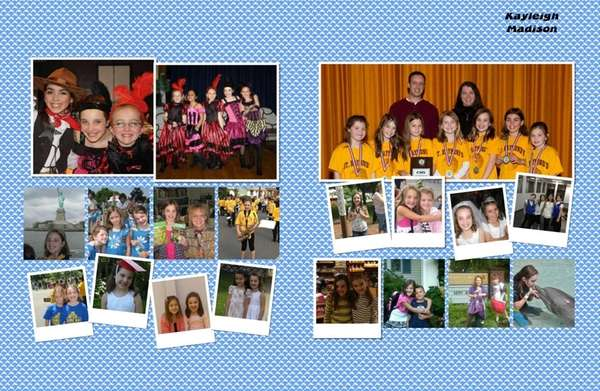 The personalized 2013 yearbook page that Marion Street