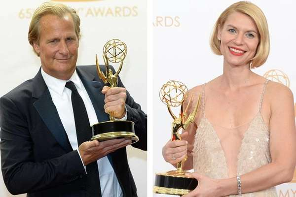Jeff Daniels and Claire Danes with their respective