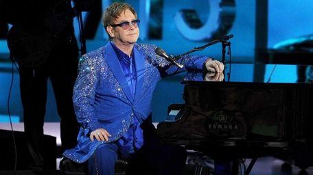 Elton John performs during the 65th Annual Primetime