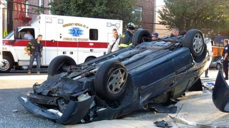 The driver of a car that overturned as