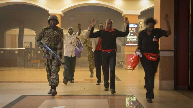 Civilians who had been hiding inside the Westgate