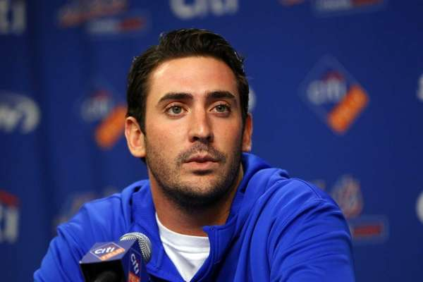 Matt Harvey speaks to the media about his
