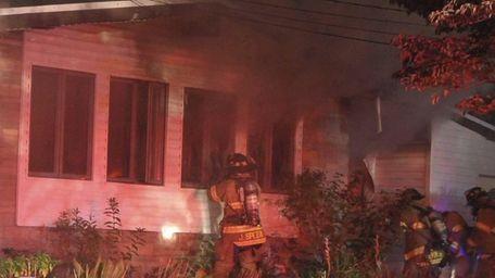 Firefighters from Centereach, Farmingville, Selden and Ronkonkoma battled