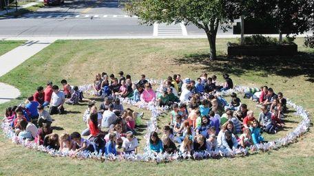 William Floyd Elementary School students work on finishing