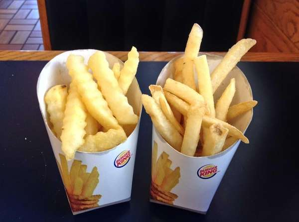 Burger King has introduced Satisfries, left, which have