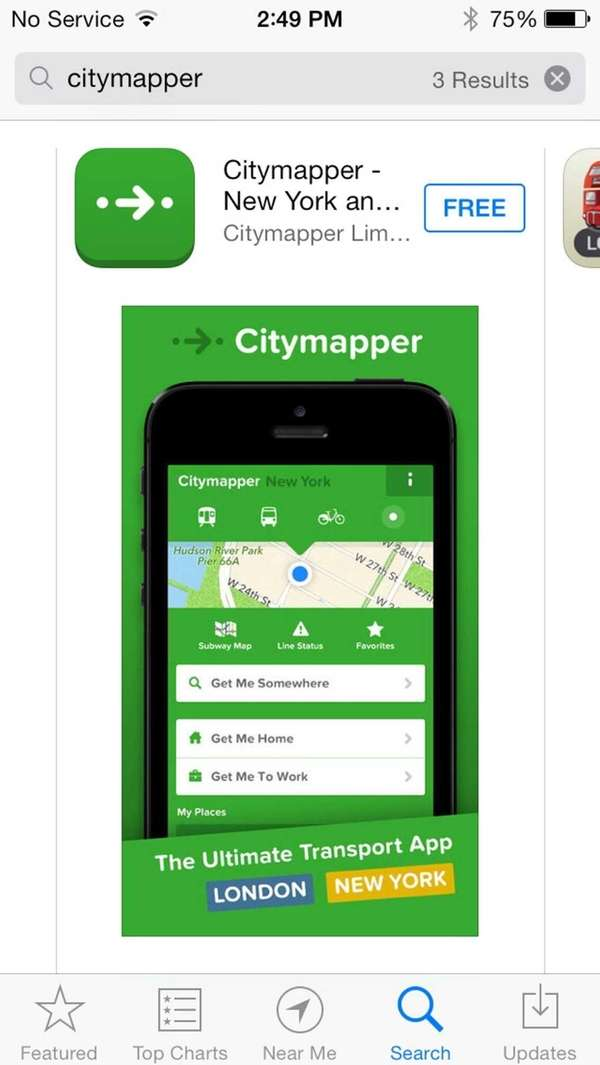 Citymapper, which uses real-time transit information to improve