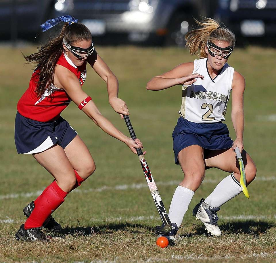 Miller Place's Ally Hutzler (7) controls the ball