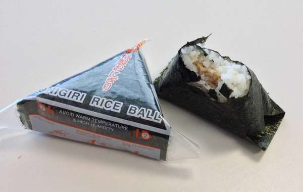 An onigiri (stuffed Japanese rice ball) makes a
