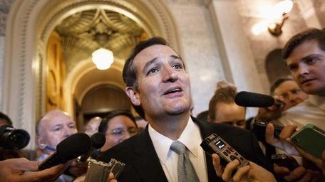 Sen. Ted Cruz (R-Texas) talks to reporters as
