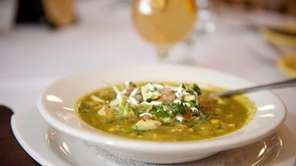The chicken and green chili soup at Maria's
