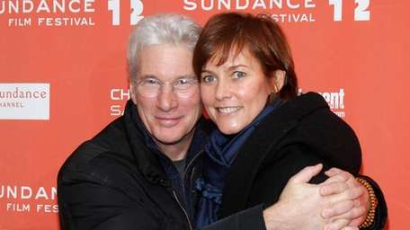 Richard Gere his wife Carey Lowell at the