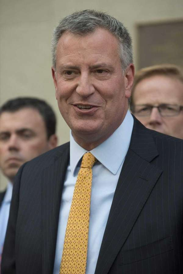 Democratic mayoral nominee Bill de Blasio shown at