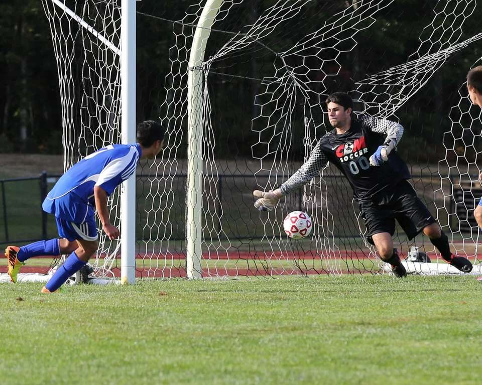 Mattituck's Mario Arreola scores a first-half goal on