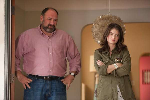 James Gandolfini and Eve Hewson in a scene