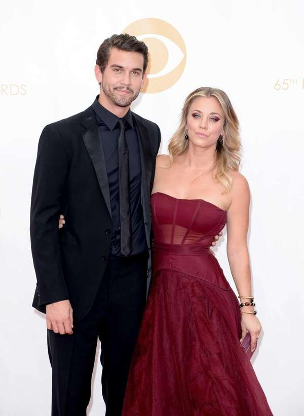 Kaley Cuoco and Ryan Sweeting arrive at the