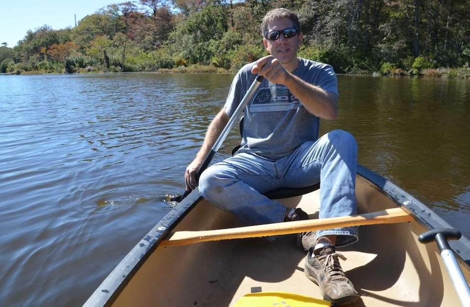 Brad DeSantis, 43, of Brookhaven, co-owns Carmans River