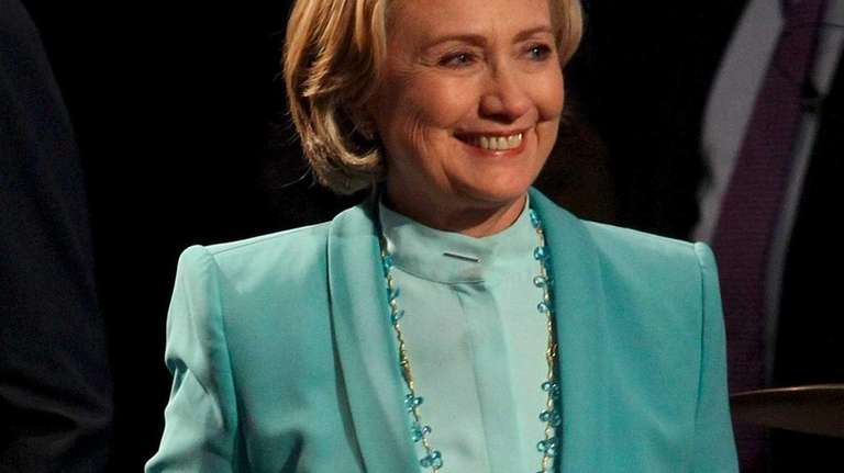 Former Secretary of State Hillary Clinton attends the