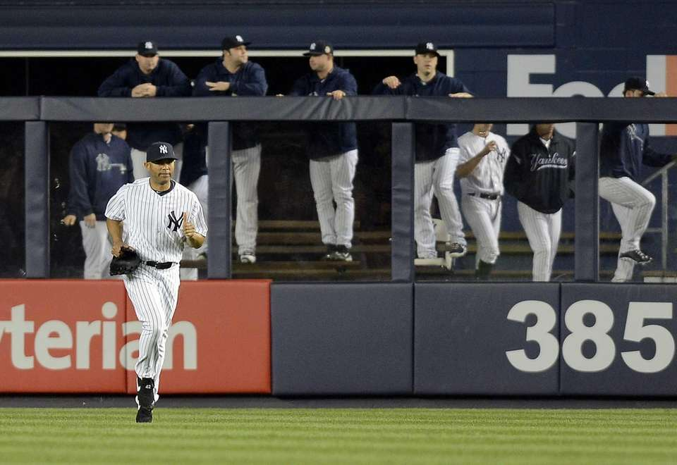 Yankees pitcher Mariano Rivera takes the mound for