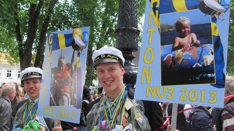 Anton Hagberg, a Swedish exchange student who spent