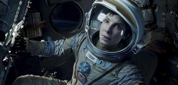 Sandra Bullock (pictured) and George Clooney are stranded