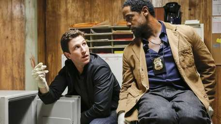 From left, Pablo Schreiber as Virgil and Blair