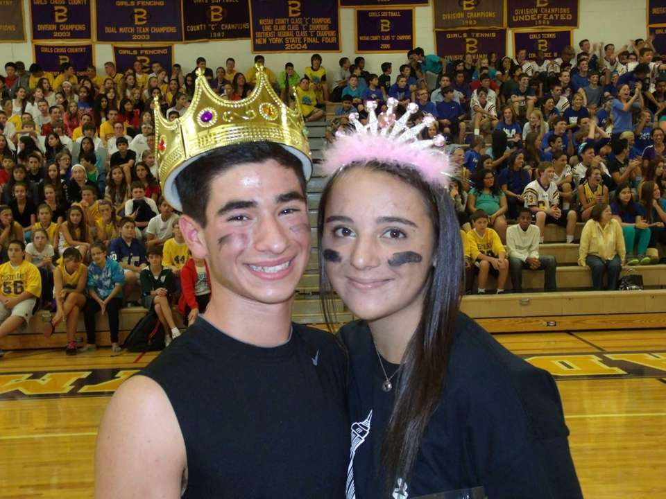 Oyster Bay High School homecoming king and queen