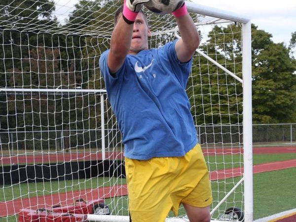 Whitman senior goalkeeper Dan Zagorski.