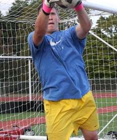 Whitman senior goalkeeper Dan Zagorski.