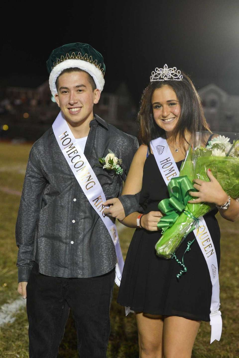 Jake Lapidot and Rachel Acampora were crowned homecoming