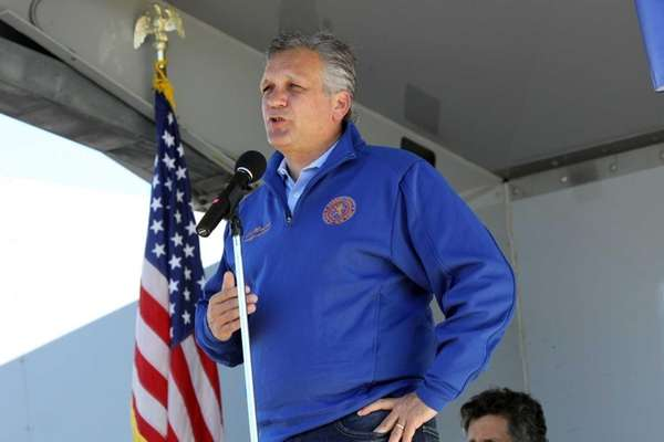 Nassau County Executive Ed Mangano speaks during North
