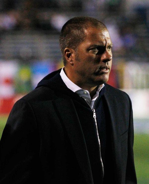 Cosmos head coach Giovanni Savarese looks on during