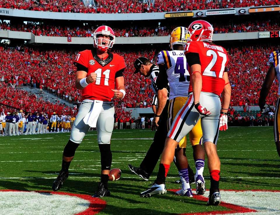 ATHENS, GA - SEPTEMBER 28: Aaron Murray #11