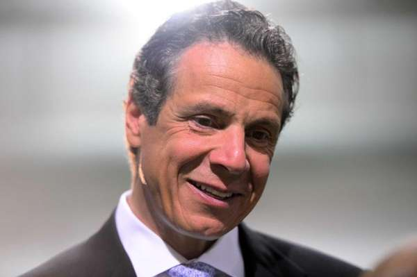 N.Y. Gov. Andrew Cuomo shown during a press