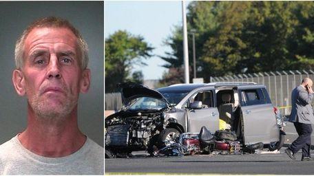 (L-R) Police said Paul Porrini, 55, of Selden,