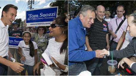 Republican County Executive Edward Mangano and Democratic opponent
