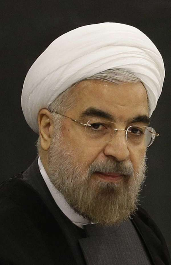 Iranian President Hassan Rouhani speaks at a meeting