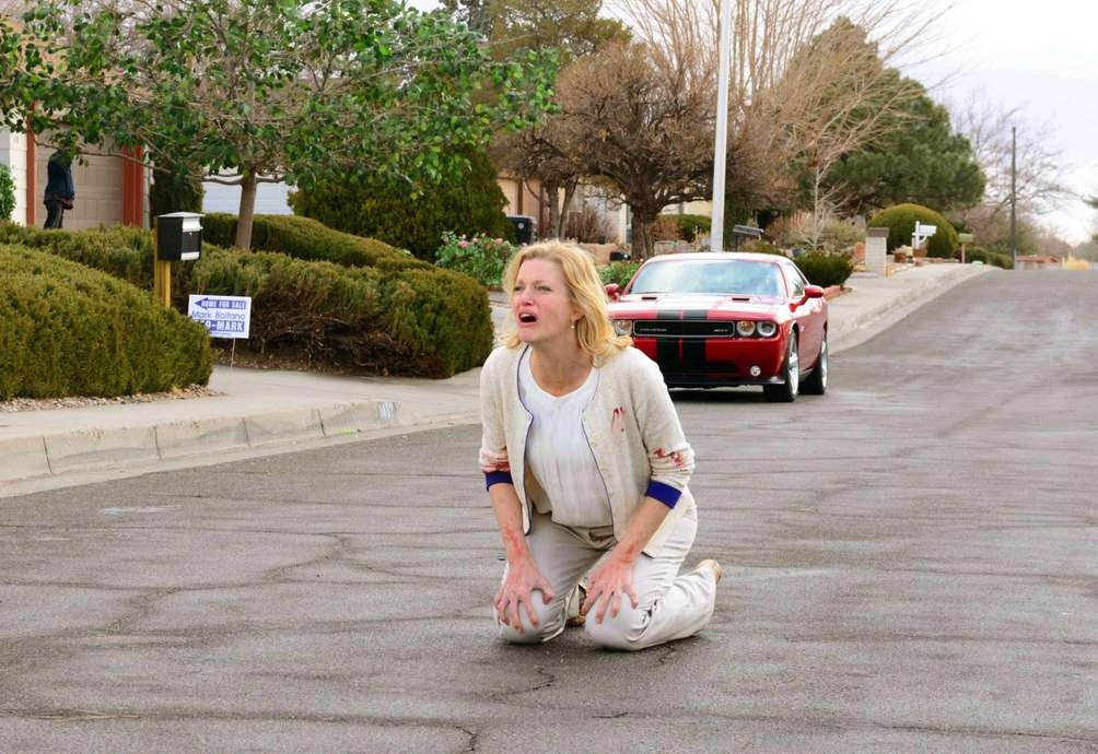 Skyler White (Anna Gunn) reacts after her daughter