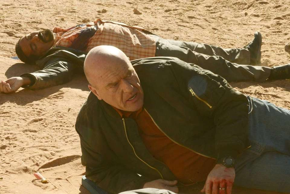 Hank Schrader (Dean Norris) foreground and Steven Gomez