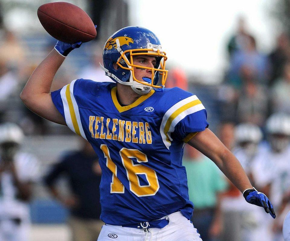 Kellenberg quarterback Kyle Driscoll throws a pass during